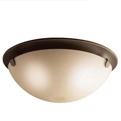 Kichler 3 Light Etched Flush Mount