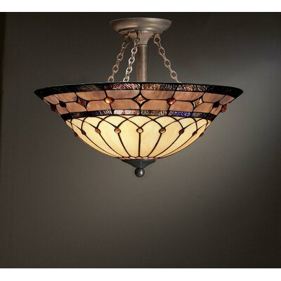Kichler Tiffany 3 Light Semi Flush Mount