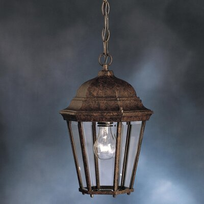 Kichler Townhouse  Outdoor Ceiling Pendant in Tannery Bronze