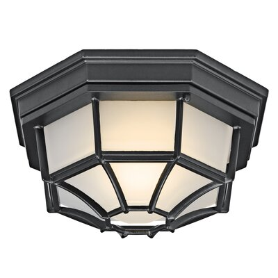 Kichler  Outdoor Flush Mount in Black