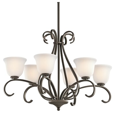 Kichler Sherbrooke 6 Light Oval Chandelier