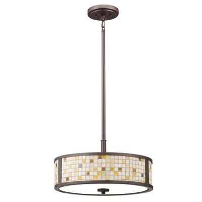Blythe 3 Light Semi Flush Drum Pendant