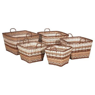 Funstripes Square Basket in Multitude