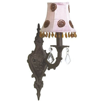Jubilee Collection  Wall Sconce with Brown Bead Shade in Mocha