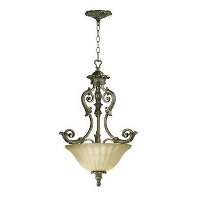 Quorum Barcelona 3 Light Inverted Pendant