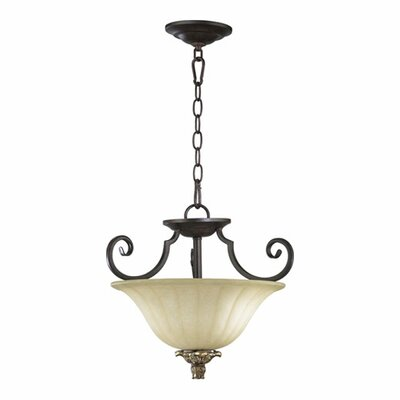 Quorum Capella 2 Light Convertible Inverted Pendant
