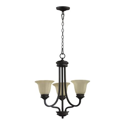 Quorum Hathaway 3 Light Chandelier