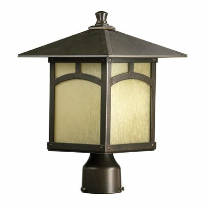 Quorum Sorrel One Light Outdoor Post Lantern in Oiled Bronze