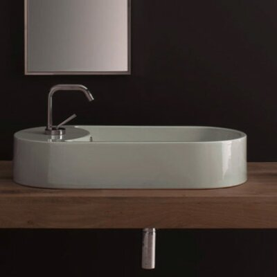 Scarabeo by Nameeks Seventy 71 Above Counter Single Hole Bathroom Sink in White