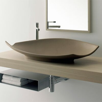 Scarabeo by Nameeks Kong 90 Above Counter Bathroom Sink in White
