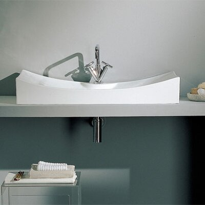 Scarabeo by Nameeks Tsunami Above Counter Single Hole Bathroom Sink