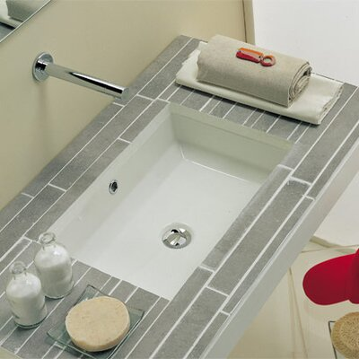 Scarabeo by Nameeks Tech Undermount Bathroom Sink in White