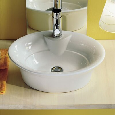 Scarabeo by Nameeks Sax Above Counter Single Hole Bathroom Sink in White