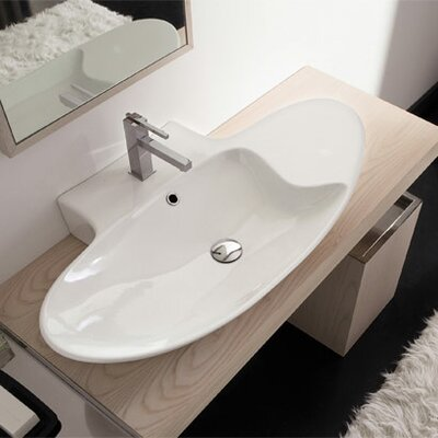 Scarabeo by Nameeks Zefiro Mensola Single Hole Bathroom Sink
