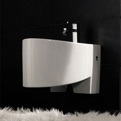 Scarabeo by Nameeks Zefiro Wall Mounted Bidet in White