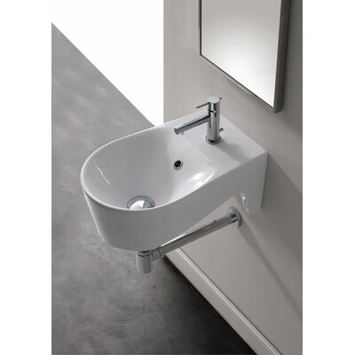 Scarabeo by Nameeks Bijoux U-Shaped Wall Mount Bathroom Sink in White