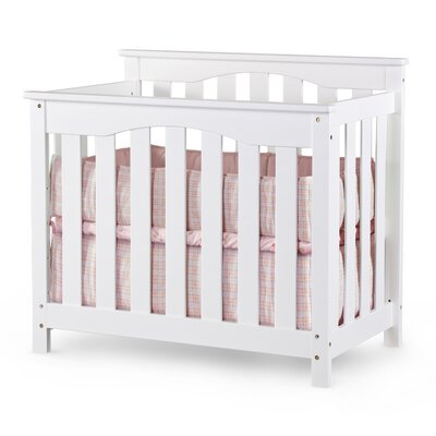 Nursery Smart Ethan 2-in-1 Convertible Mini Crib in Cherry