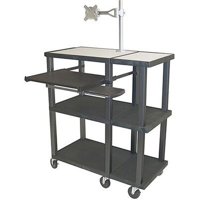 H. Wilson Company Tuffy Open Shelf Extra Wide Presentation Station with Black Legs