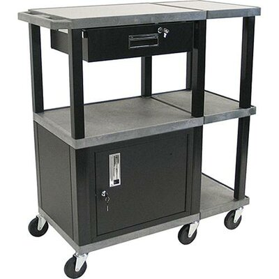 H. Wilson Company Tuffy Presentation Station with Black Drawer Cabinet