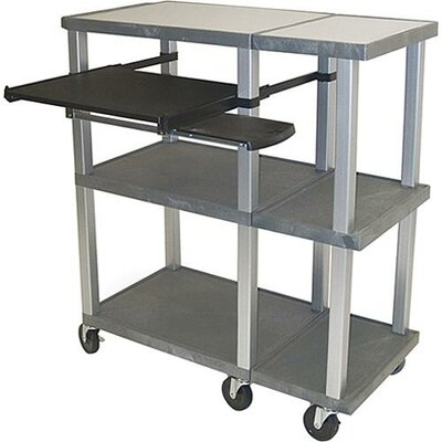 H. Wilson Company Tuffy Open Shelf Presentation Station with Nickel Legs