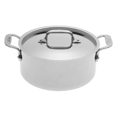 Stainless Steel 3-Qt. Round Casserole with Lid