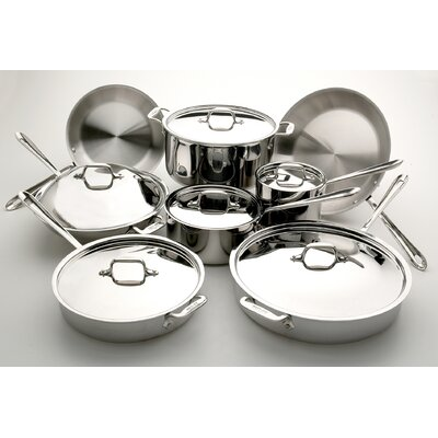 All-Clad 3-Ply Stainless Steel 14-Piece Cookware Set