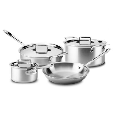d5 Stainless Brushed 7 Piece Cookware Set