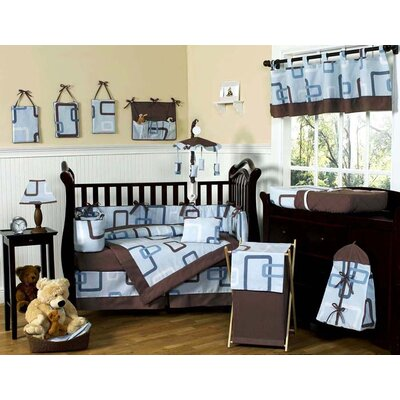Sweet Jojo Designs Geo Blue 9 Piece Crib Bedding Collection