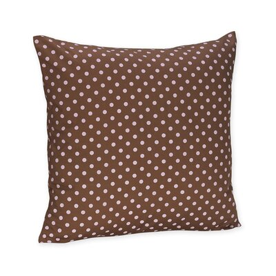 Sweet Jojo Designs Pink and Brown Toile Decorative Pillow with Dot Print