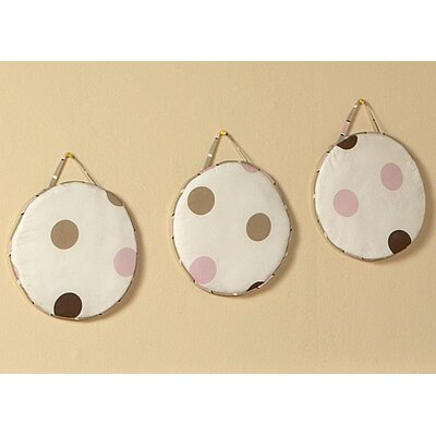 Sweet Jojo Designs Mod Dots Pink Collection Wall Hangings