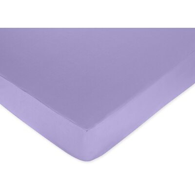 Sweet Jojo Designs Pony Collection Fitted Crib Sheet  - Purple