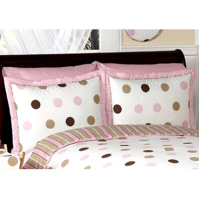 Sweet Jojo Designs Mod Dots Pink Collection Standard Pillow Sham
