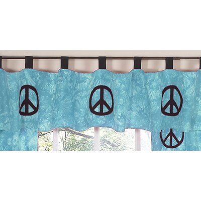 Sweet Jojo Designs Peace Tab Top Tailored Curtain Valance