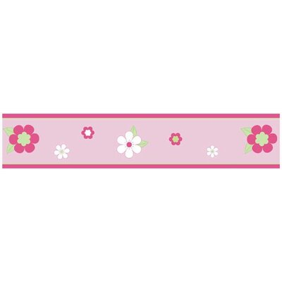 Flower Pink and Green Collection Wall Paper Border