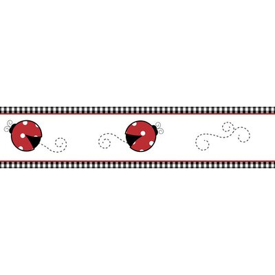 Sweet Jojo Designs Little Ladybug Collection Wall Paper Border
