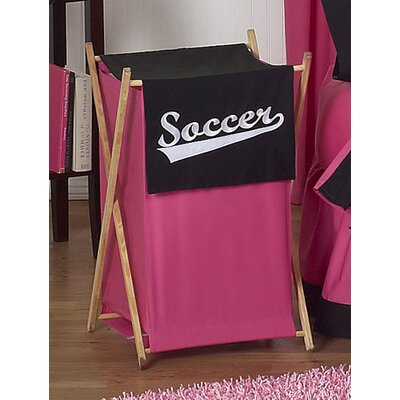 Sweet Jojo Designs Soccer Pink Laundry Hamper
