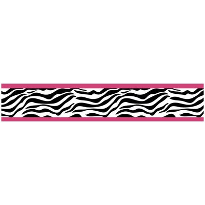 Sweet Jojo Designs Zebra Pink Collection Wall Paper Border