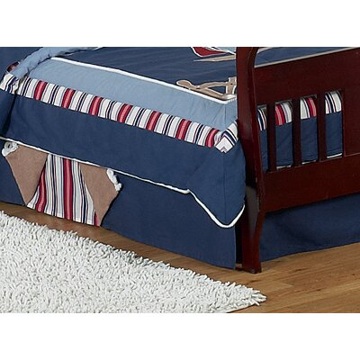 Sweet Jojo Designs Nautical Nights Collection Toddler Bed Skirt