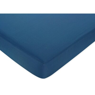 Sweet Jojo Designs Surf Blue Fitted Crib Sheet
