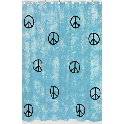 Sweet Jojo Designs Peace Cotton Shower Curtain