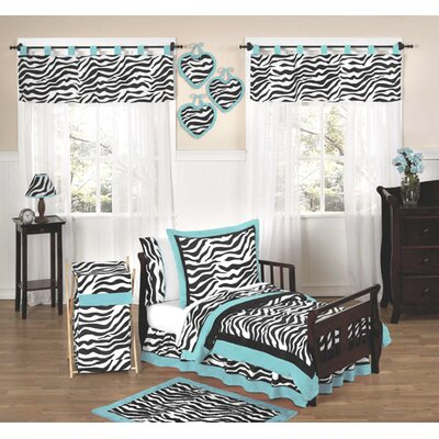 Sweet Jojo Designs Turquoise Funky Zebra Toddler Bedding Collection