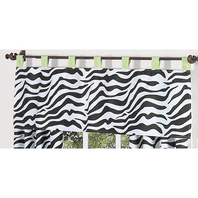 Sweet Jojo Designs Zebra Cotton Tab Top Tailored Curtain Valance