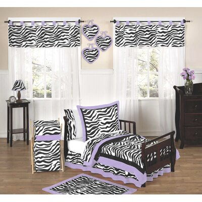 Sweet Jojo Designs Purple Funky Zebra Toddler Bedding Collection