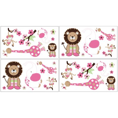 Jungle Friends Collection Wall Decal Stickers
