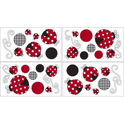 Sweet Jojo Designs Little Ladybug Collection Wall Decal Stickers