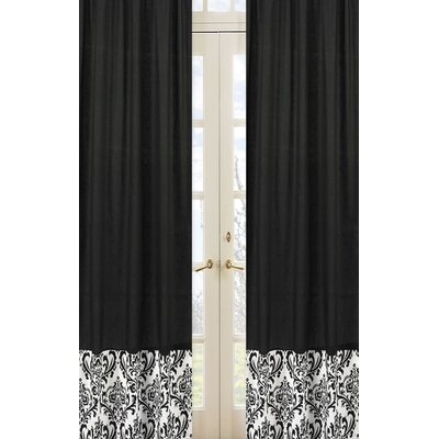 Sweet Jojo Designs Isabella Hot Pink, Black and White Curtain Panel Pair