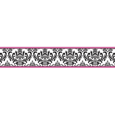 Sweet Jojo Designs Isabella Hot Pink, Black and White Collection Wall Paper Border