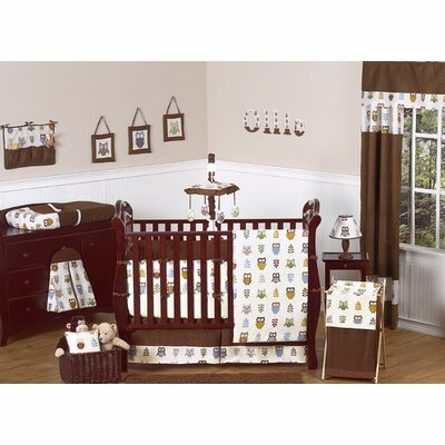 Owl 9 Piece Crib Bedding Set
