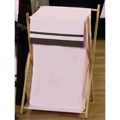 Sweet Jojo Designs Hotel Pink and Brown Laundry Hamper