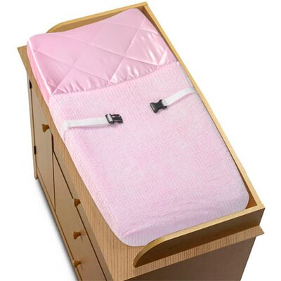 Chenille Pink Collection Changing Pad Cover